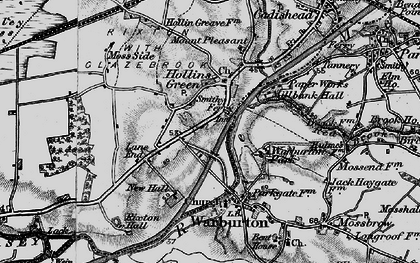 Old map of Hollins Green in 1896