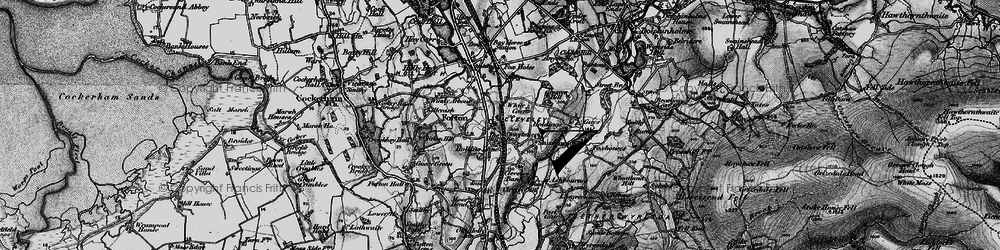 Old map of White Carr in 1896