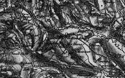 Old map of Fawside Edge in 1896