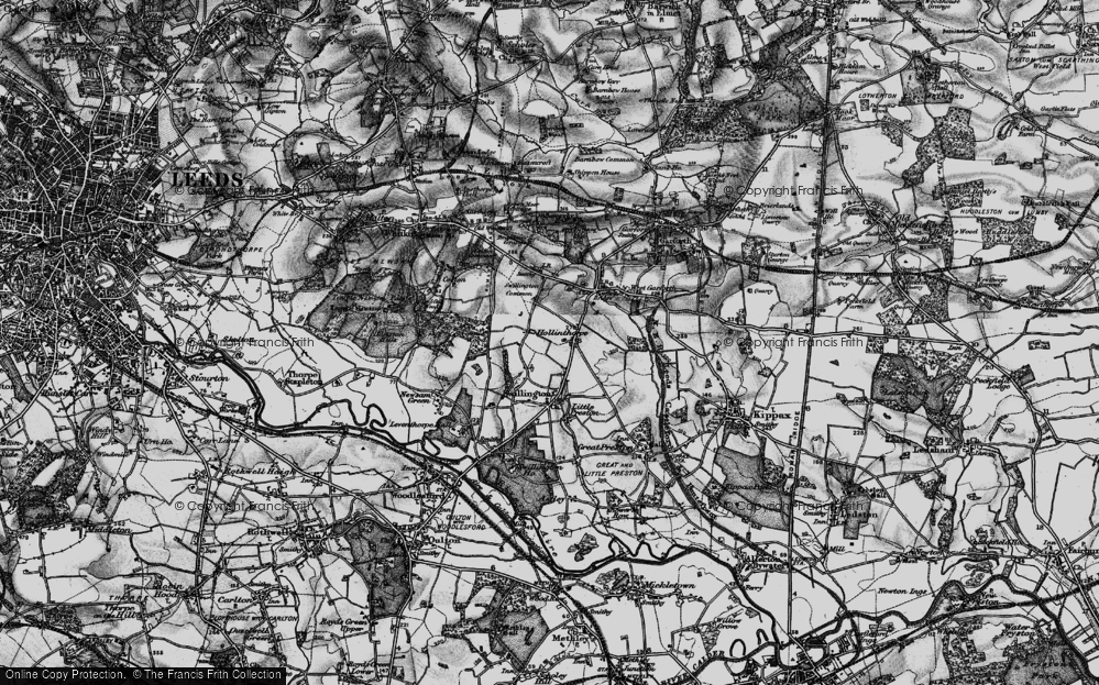 Old Map of Historic Map covering Avenue Wood in 1896