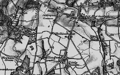 Old map of Avenue Wood in 1896