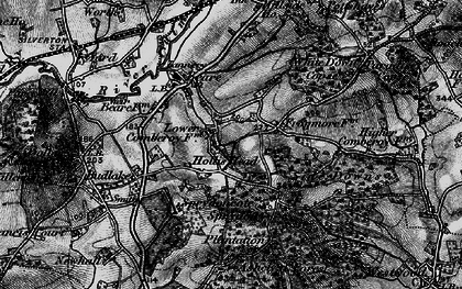 Old map of White Down Copse in 1898