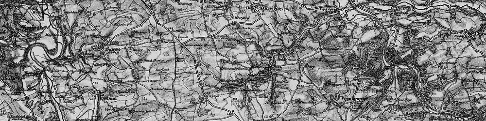 Old map of Woodroberts in 1898