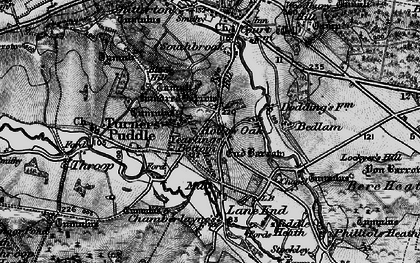 Old map of Yearlings Bottom in 1897