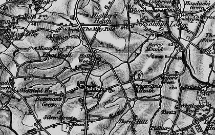 Old map of Hollywood in 1899