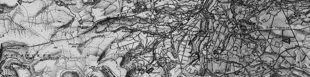Old map of Holmbridge in 1896