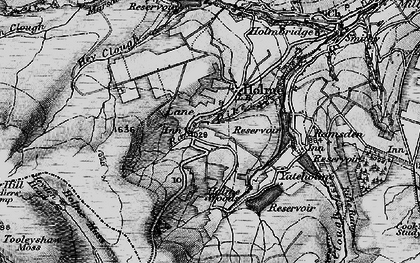 Old map of West Withens Clough in 1896