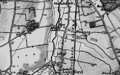 Old map of Holme in 1896
