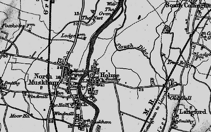 Old map of Holme in 1899