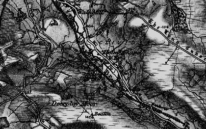 Old map of Limestone Trail in 1896