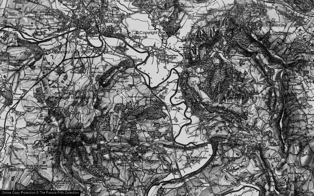 Old Map of Holme Lacy, 1898 in 1898