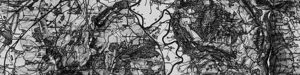Old map of Holme Lacy in 1898
