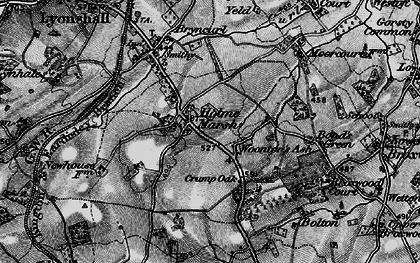 Old map of Woonton Ash in 1899