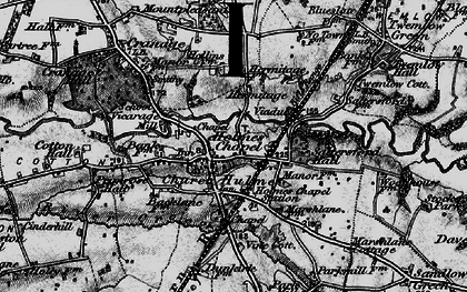 Old map of Holmes Chapel in 1896