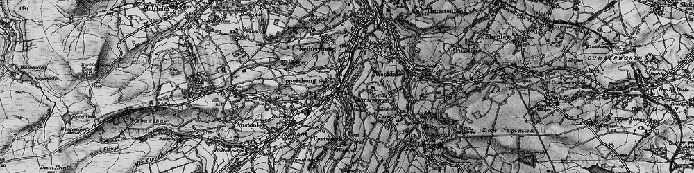 Old map of Holmfirth in 1896