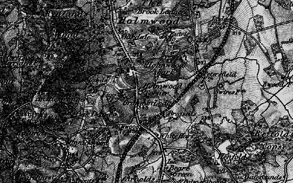 Old map of Anstie Grange in 1896
