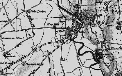 Old map of Holt in 1897