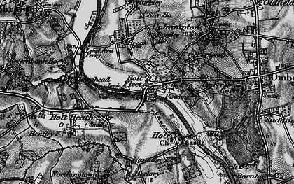 Old map of Holt Fleet in 1898