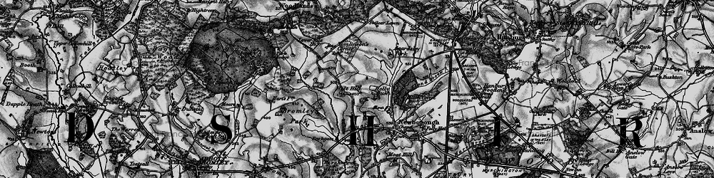 Old map of Agardsley Park in 1897