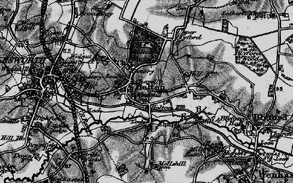 Old map of Holton in 1898