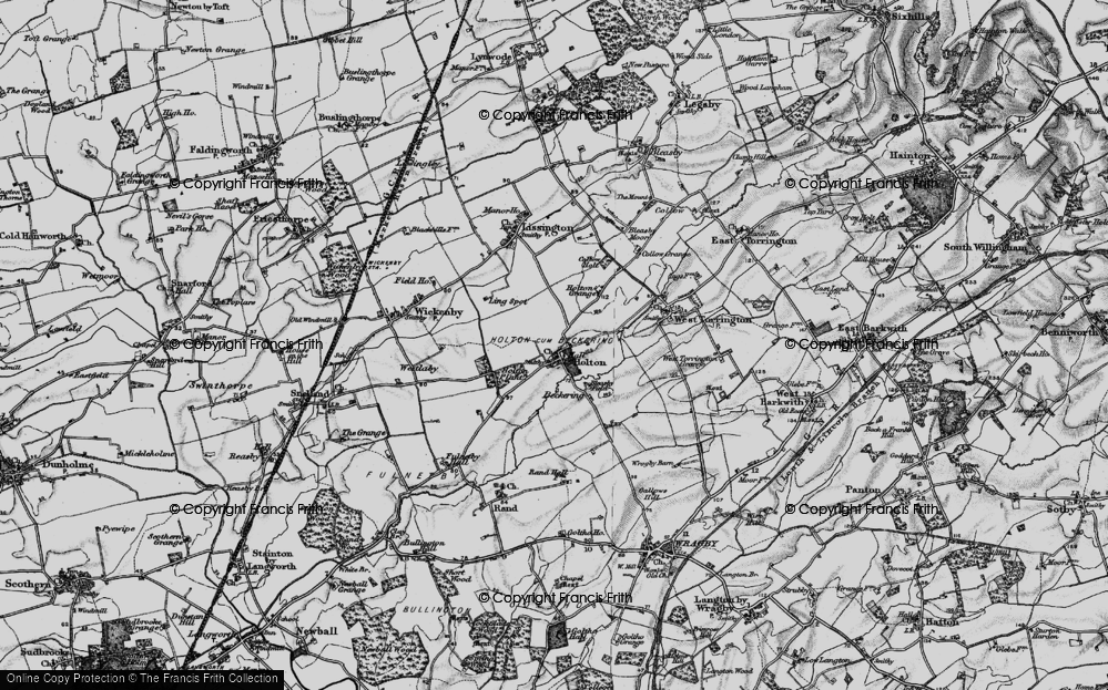 Old Map of Historic Map covering Wickenby Aerodrome in 1899