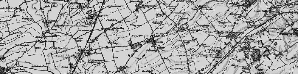 Old map of Wickenby Aerodrome in 1899
