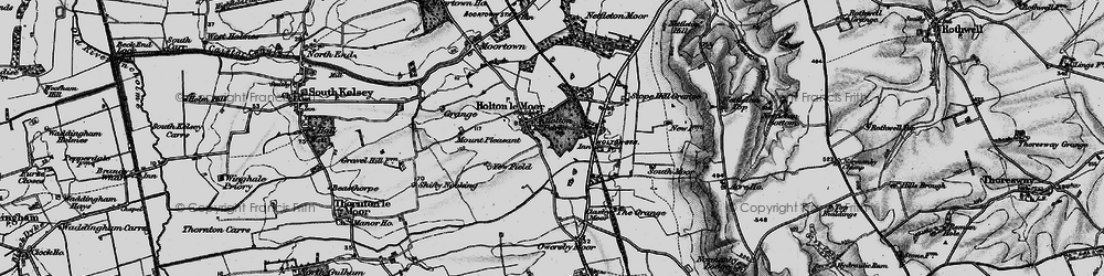 Old map of Yewfield in 1898
