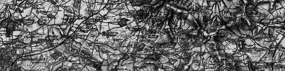 Old map of Yew Tree Ho in 1899