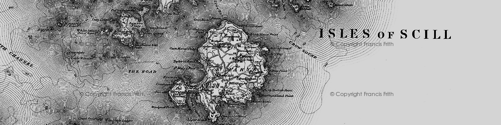Old map of Toll's Island in 1896