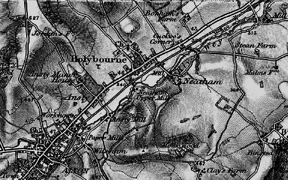 Old map of Holybourne in 1895
