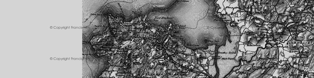 Old map of Holyhead in 1899