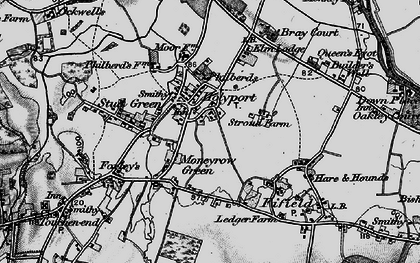 Old map of Holyport in 1895