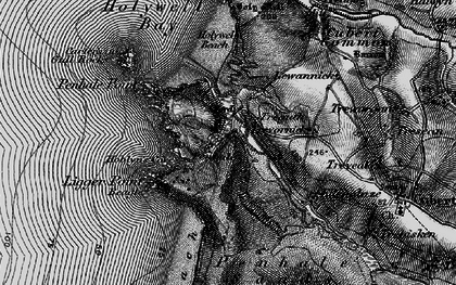 Old map of Holywell in 1895