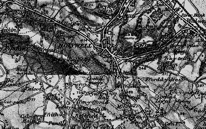 Old map of Holywell in 1896