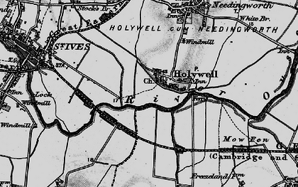 Old map of Holywell in 1898