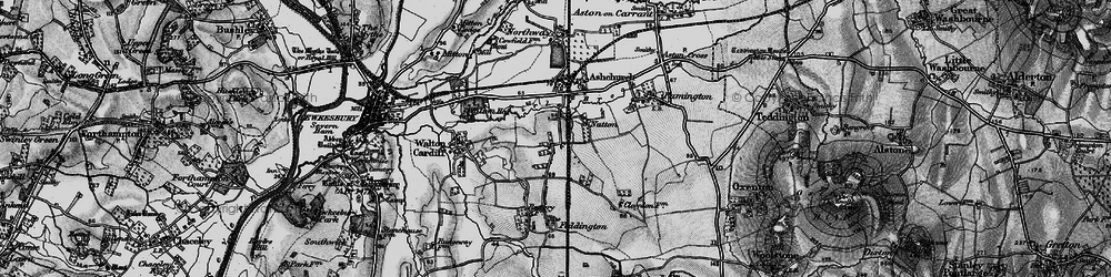 Old map of Tirle Brook in 1896