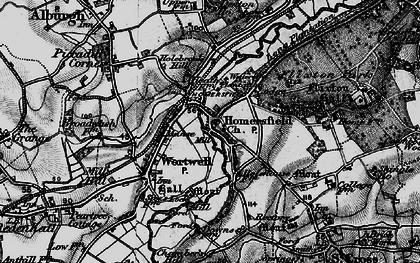 Old map of Homersfield in 1898