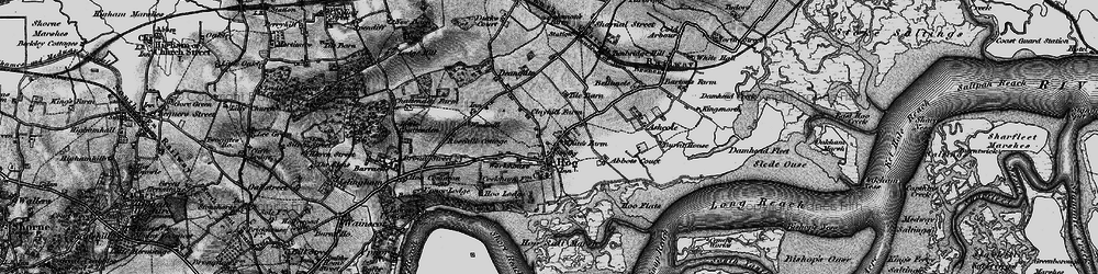 Old map of Abbots Court in 1895