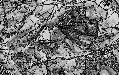 Old map of Hood Green in 1896