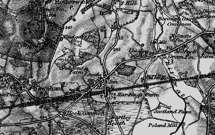 Old map of Hook in 1895