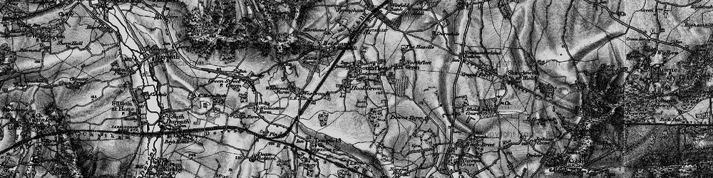Old map of Hook Green in 1895