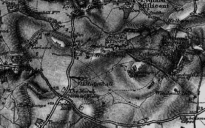 Old map of Letterage Copse in 1898