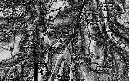 Old map of Hooley in 1896