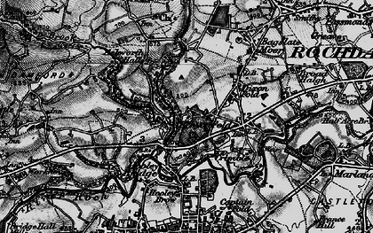 Old map of Bamford Hall in 1896