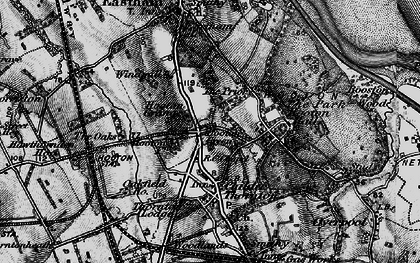 Old map of Hooton in 1896