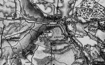 Old map of Wood Lee in 1895