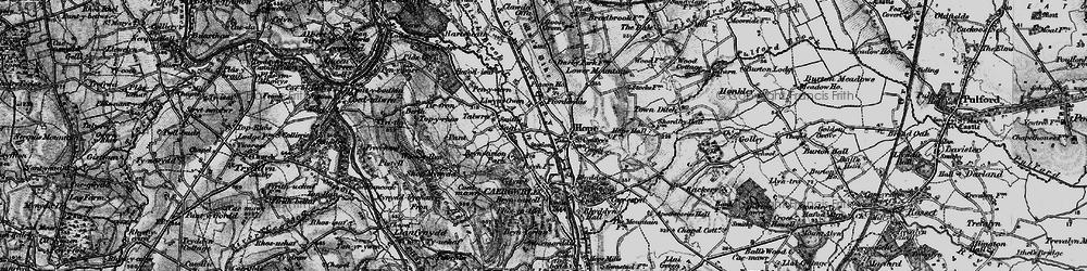 Old map of Tir-y-fron in 1897