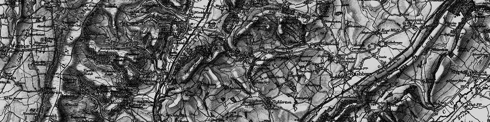 Old map of Woodgate Cott in 1899