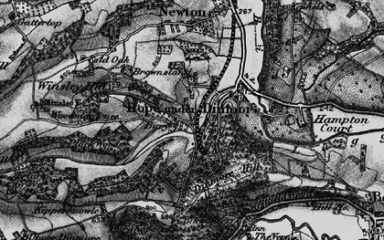 Old map of Winsley Hill in 1898