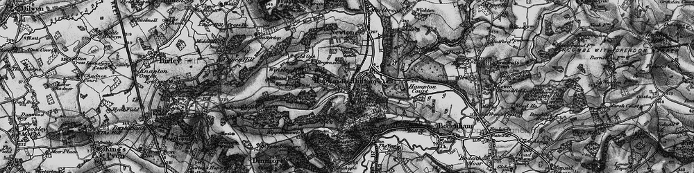 Old map of Woodmanton in 1898